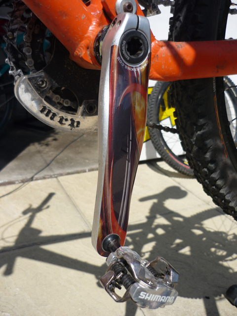 Orange patterned Hollowtech II Crankskins: