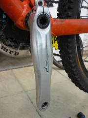 Unprotected and worn XT crank